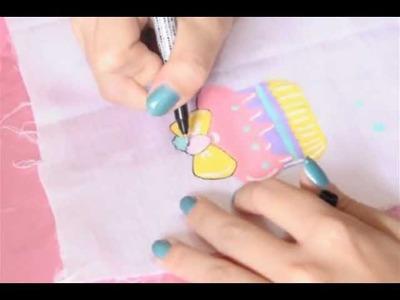 ♥ Kawaii Kei ♥ - [DIY] Pintura em tecido