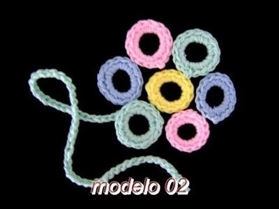 MOTIVOS FLORAIS EM CROCHE MODELO 02