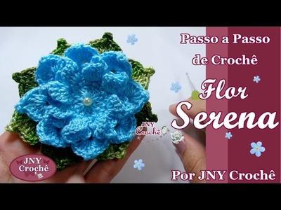 Passo a Passo de crochê Flor Serena por JNY Crochê
