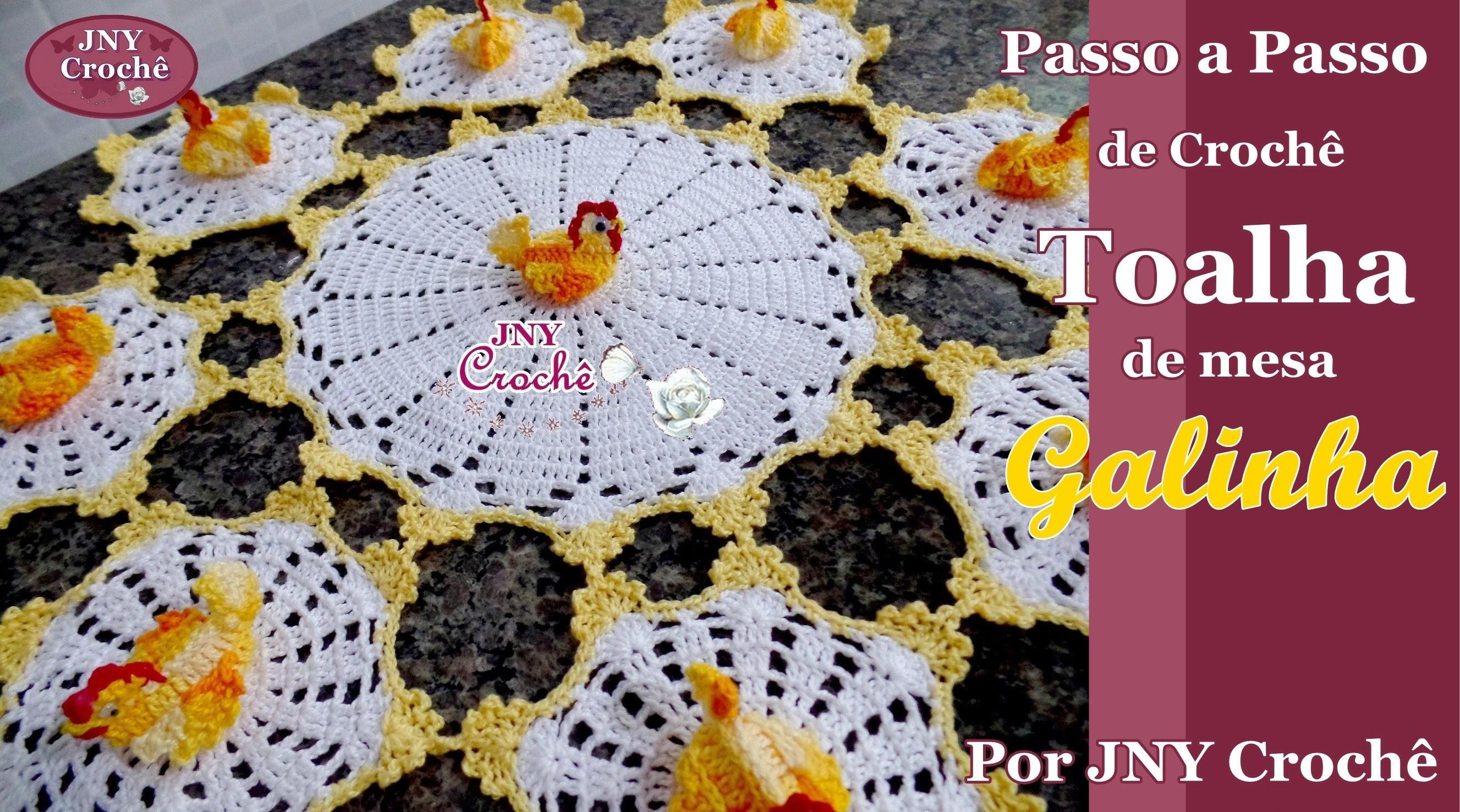 Toalha de mesa de crochê Galinha por JNY Crochê