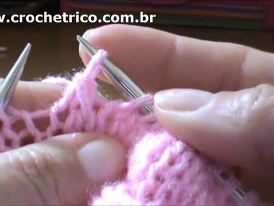 Tricô - Vestidinho Rosa - 3 à 6 Meses - Parte 01.07