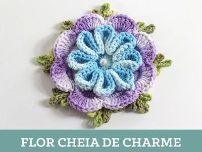 Criações em crochê: Flor Cheia de Charme | Luciana Ponzo