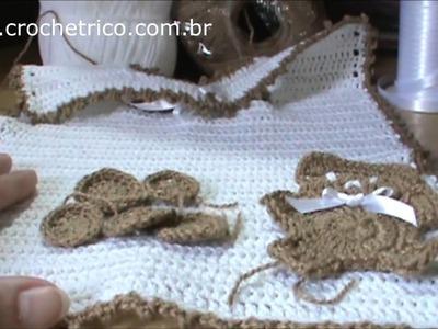 Crochê - Babador Ursinho - Parte 05.05