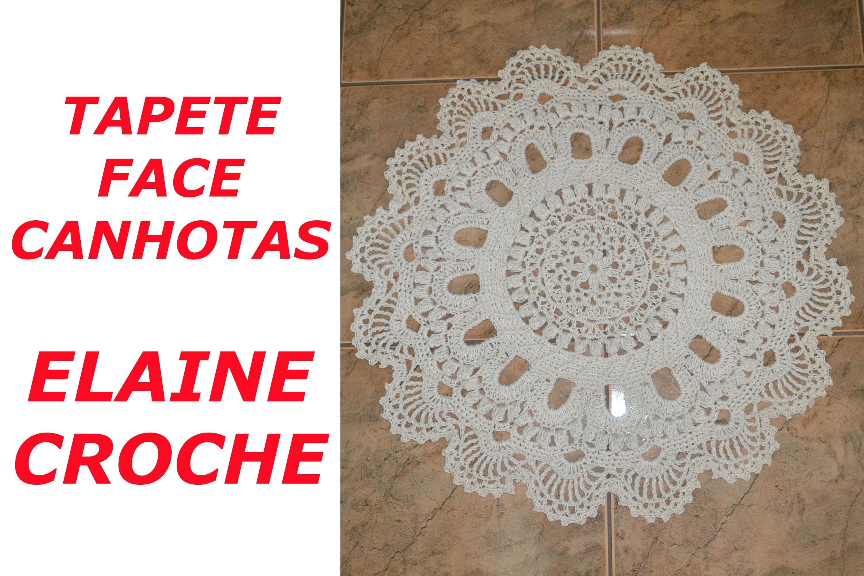 CROCHE PARA CANHOTOS - LEFT HANDED CROCHET - TAPETE FACE EM CROCHE CANHOTAS