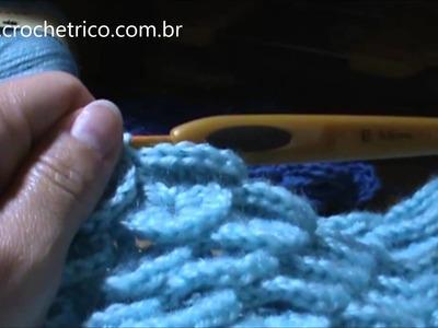 Crochê - Touca em Ponto Escama - Parte 04.06