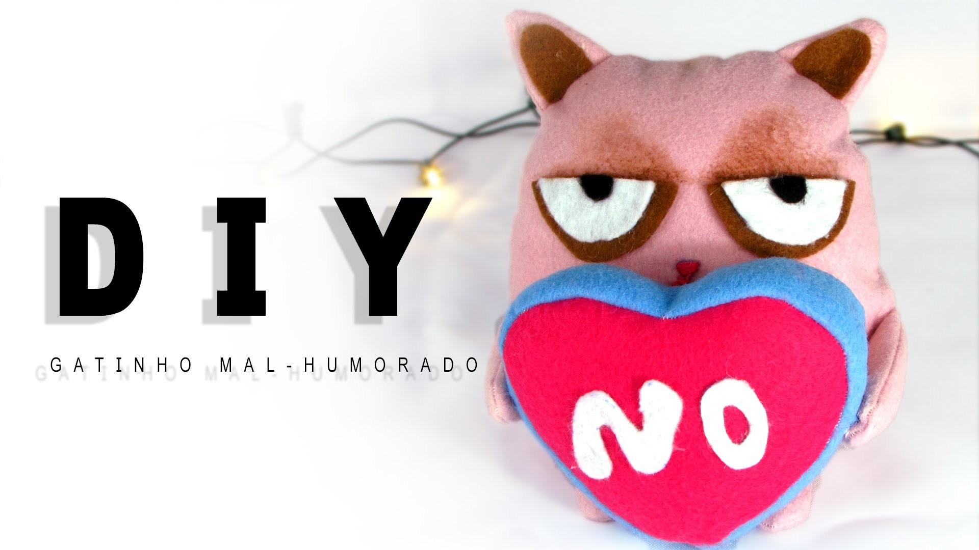 DIY Faça você mesma: gatinho mal-humorado dia dos namorados | Poly Gonçalves
