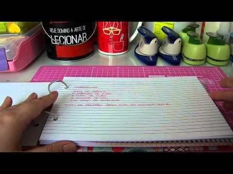 Livro de receitas de scrapbook