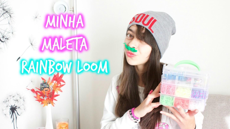 Maleta Rainbow Loom | Thais e Thalita Matsura