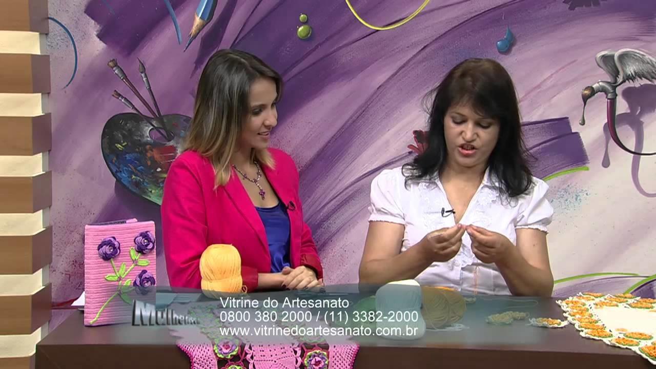 Mulher.com 19.12.2013 Maria José - Caminho de mesa harmonia Parte 1.2