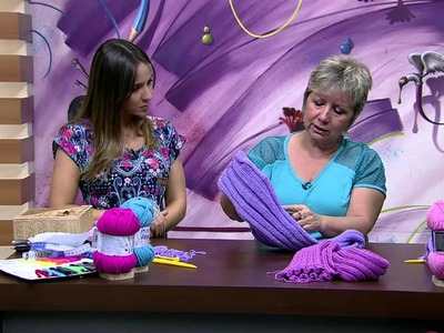 Mulher.com 23.03.2015 Turbante em trico por Vitoria Quintal Parte 2