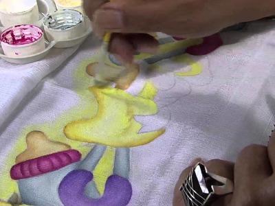 Mulher.com 30.04.2013 Filó Frigo - Dicas pintura em fralda  Parte 2.2