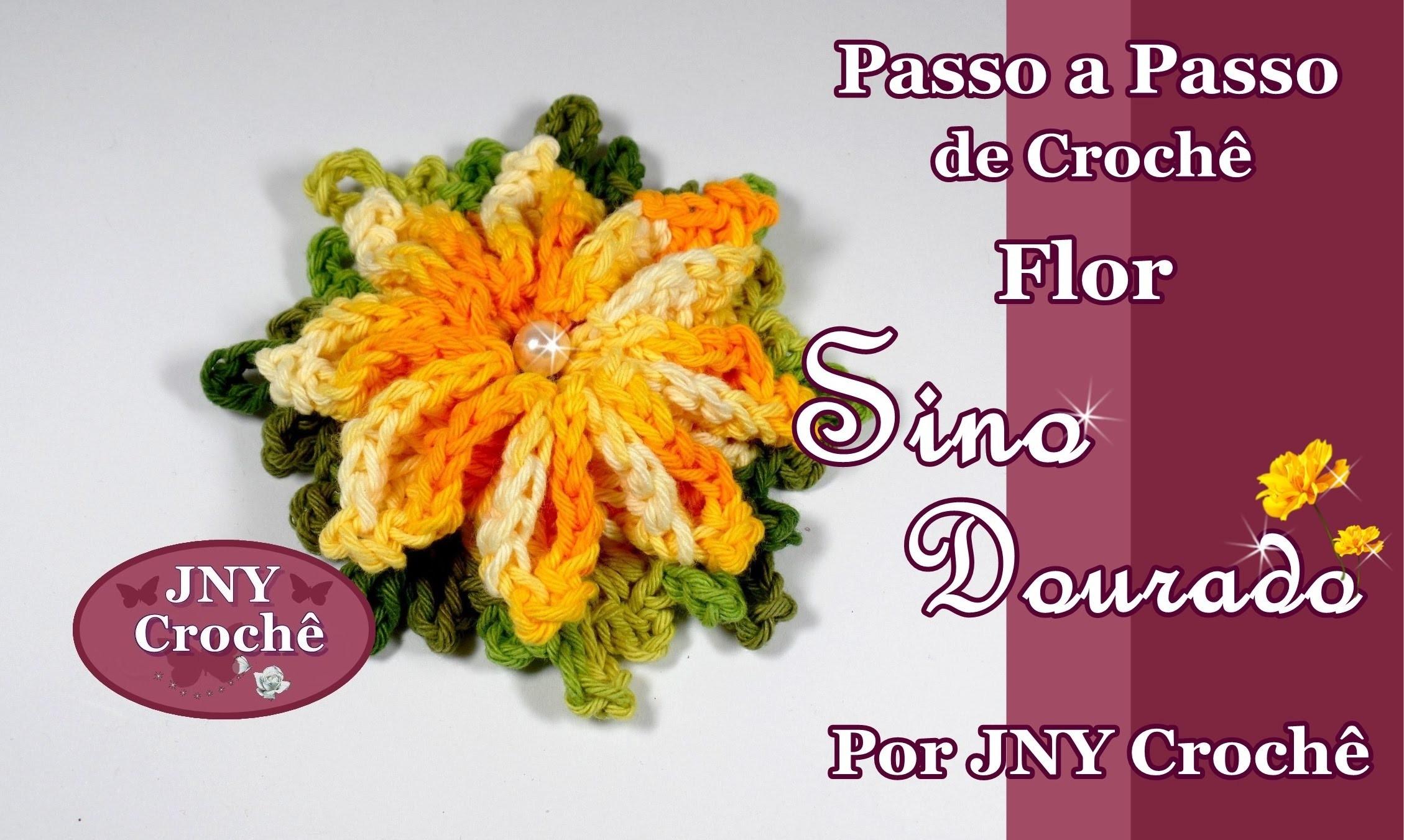 Passo a Passo de Crochê Flor Sino Dourado por JNY Crochê