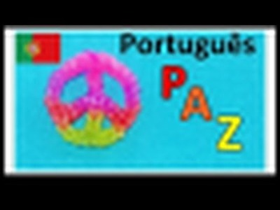 Pulseiras de Elastico - Paz | Como fazer Pulseiras com elasticos | Rainbow Loom Bands Charms
