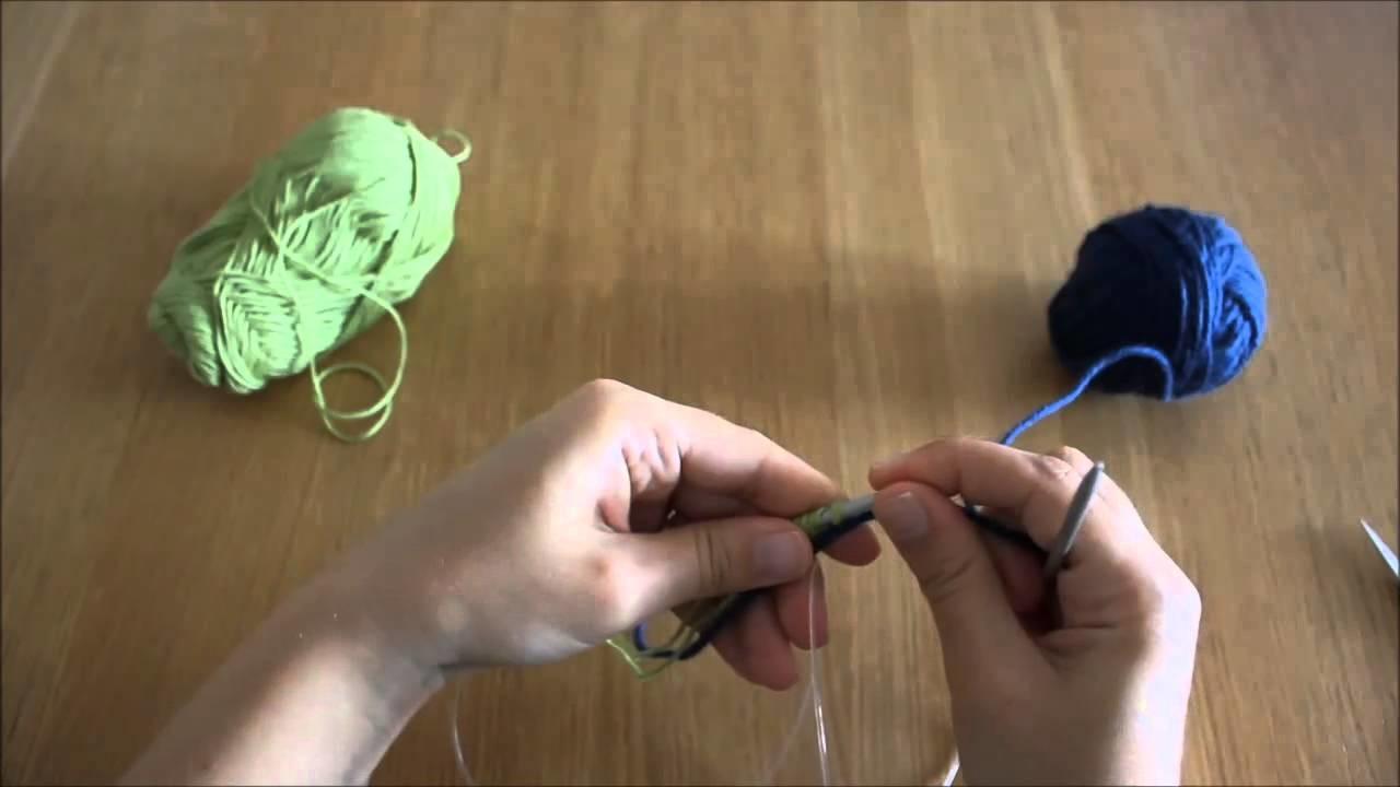 Querido tricot - montagem provisória (provisional cast-on)