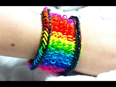 Rainbow Loom: Pulseira de Elásticos- GOMITAS-Loom Bands BRACELET