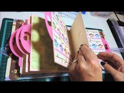 Scrapbook - Álbum corujinhas II - Atelier Bela Arteira