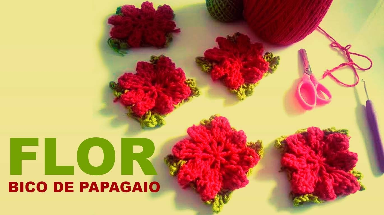 Artsil   flor vermelha  bico de papagaio