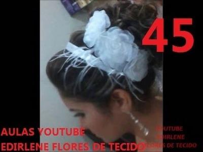 AULA 45: ENSINANDO FAZER TIARA DE FITA PARA NOIVAS