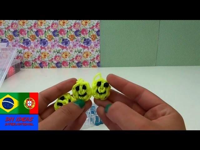 Como fazer chaveiro rostinho sorrindo na máquina de elásticos instruções português Happy Face Charm