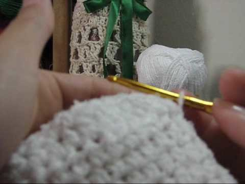Crochê - Meias Brancas com Botões - Parte 02.02