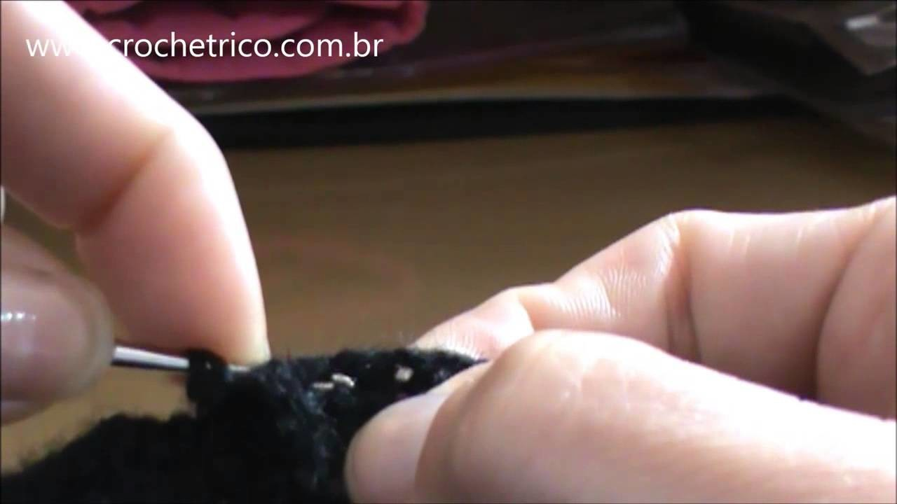 Crochê para Canhotas - Touca Ninja (Touca de Motoqueiro) - Parte 05.06