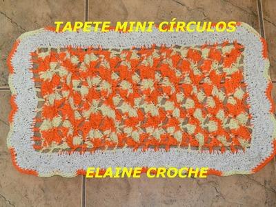 CROCHE PARA CANHOTOS - LEFT HANDED CROCHET - TAPETE MINI CÍRCULOS EM CROCHÊ - CANHOTAS