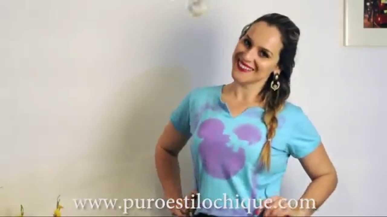 DIY - T Shirt Com estampa da Minnie