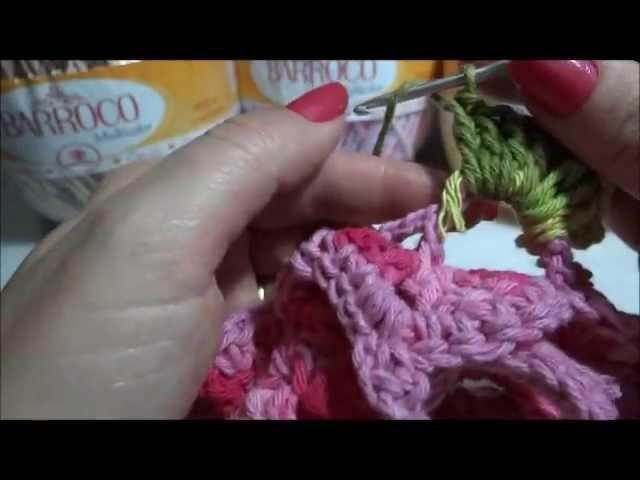 Flor de Lotus em Crochê Parte-2