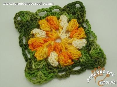 Motivo Flor de Croche Carrossel - Aprendendo Crochê