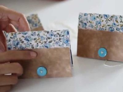 Tutorial: Caderninhos (ou moleskine) com caixa de cereal!