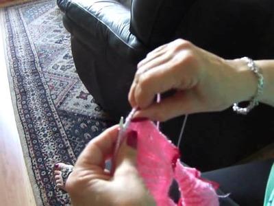 Vídeo aula. capa de bebê em tricô Parte 3