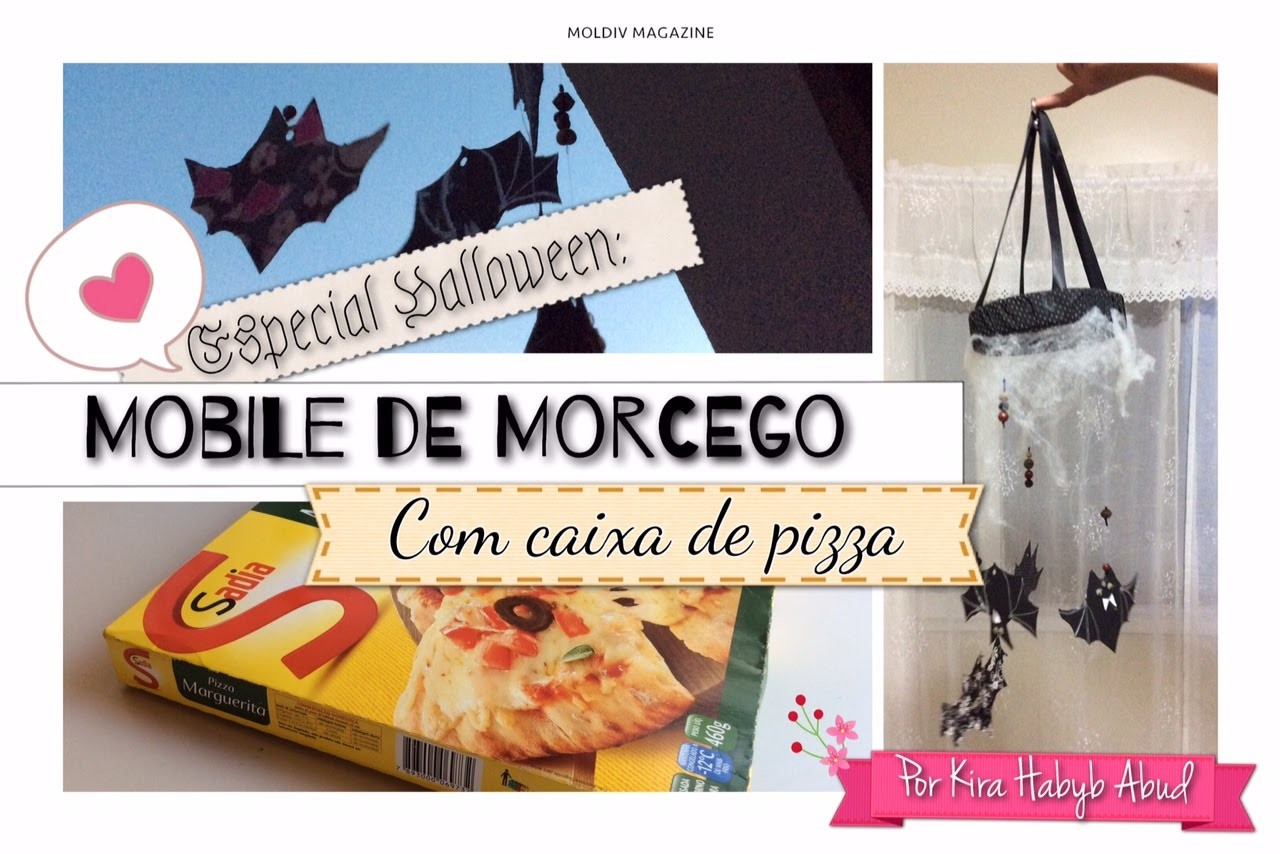 DIY: Móbile de Morcego com caixa de Pizza!