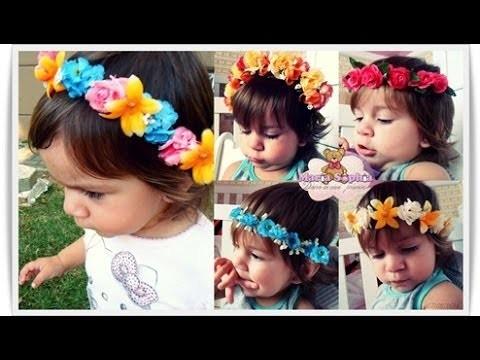 DIY \ Tiara de Flores - Arcos Pra Cabelo ( Faça você Mesma )