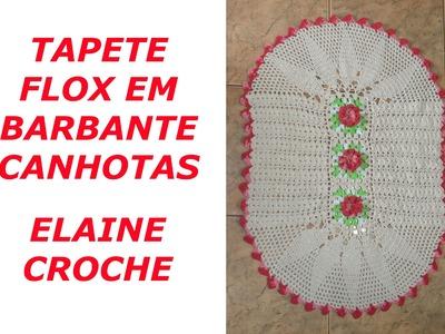CROCHE PARA CANHOTOS - LEFT HANDED CROCHET - TAPETE FLOX EM CROCHÊ CANHOTAS