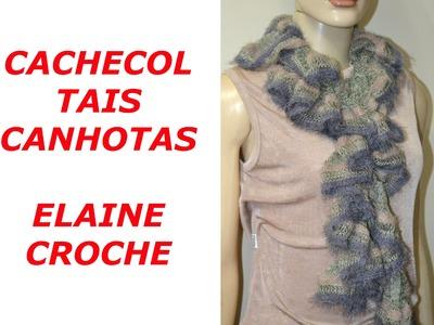 CROCHE PARA CANHOTOS - LEFT HANDED CROCHET - CACHECOL TAIS CROCHÊ CANHOTAS