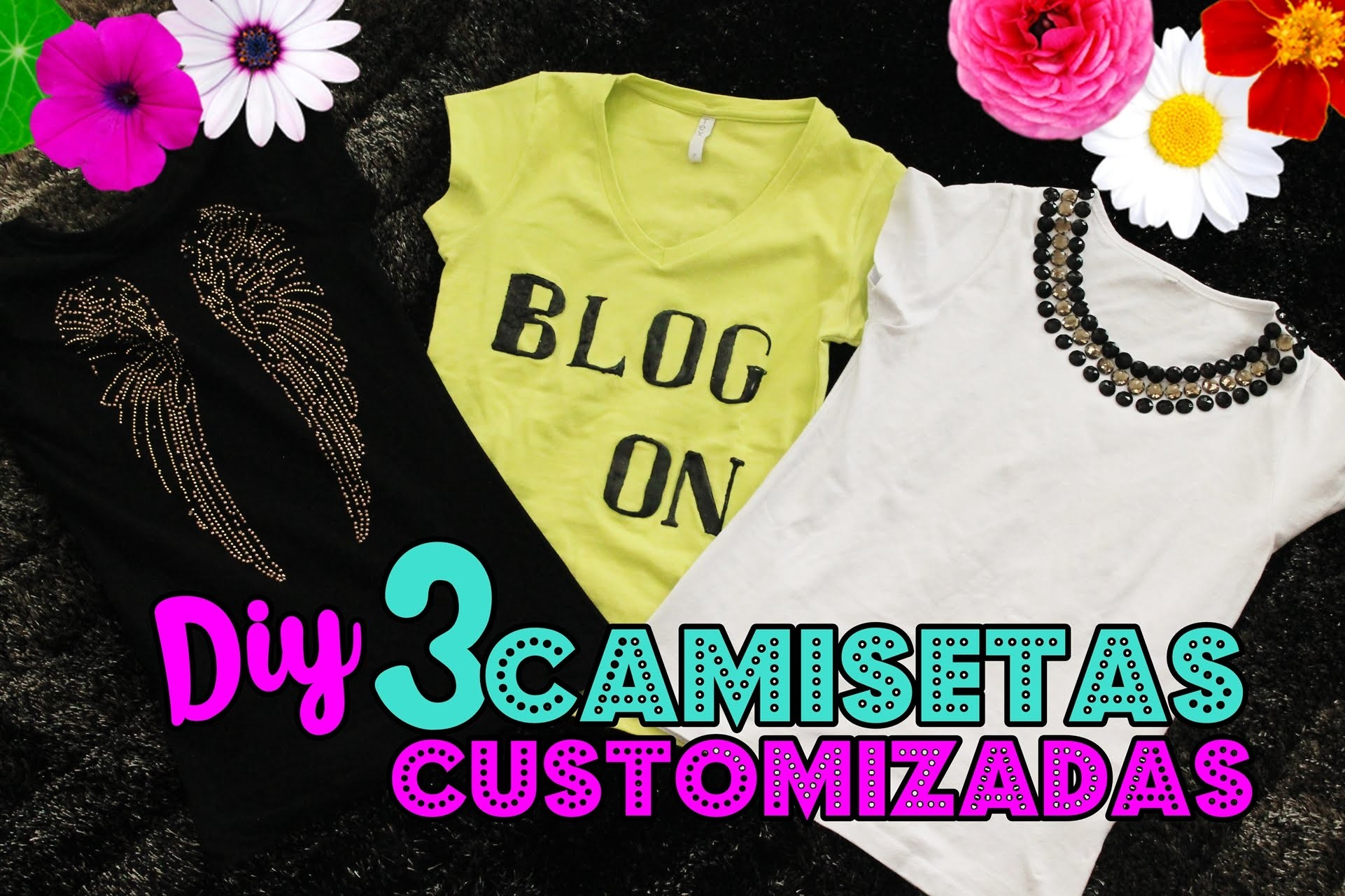 DIY: 3 Camisetas Customizadas fácies de fazer | DIY 3 T-Shirt Crafts