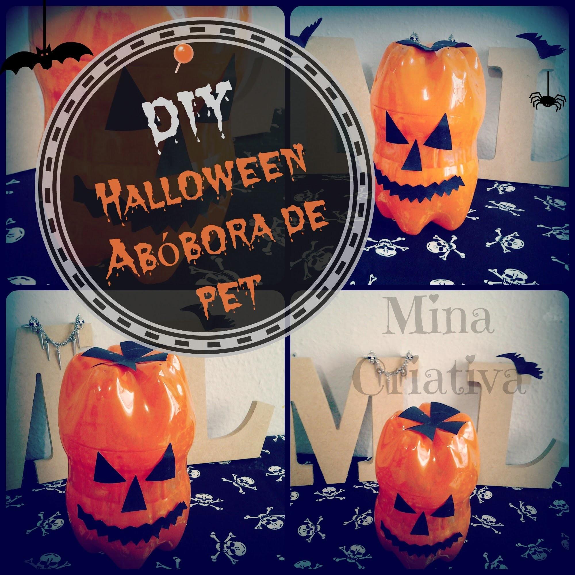 DIY- Abóbora de Halloween | Como fazer abóbora de Halloween com garrafa Pet|