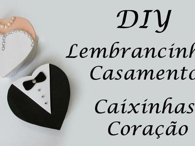 DIY: Como Fazer Lembrancinhas de Casamento - Caixinhas Coração de Garrafa Pet e EVA - Reciclagem