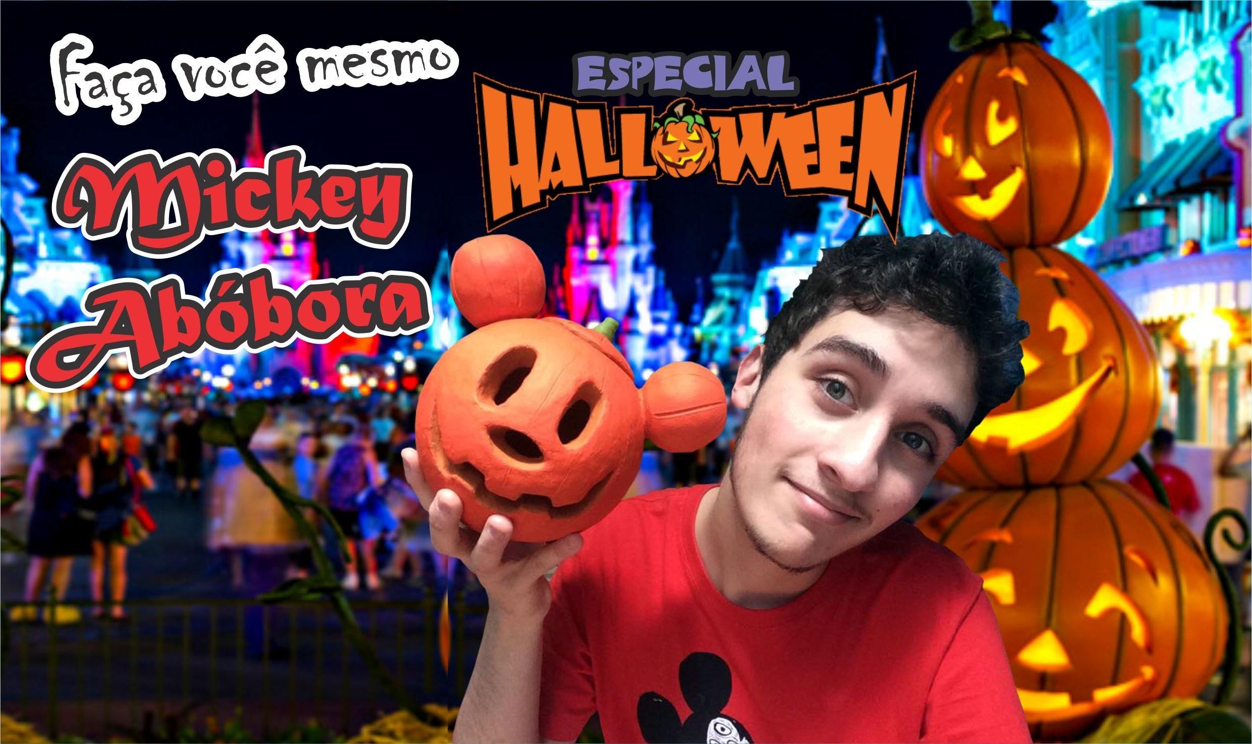 DIY; Faça você mesmo! Enfeite de Halloween Mickey abóbora!