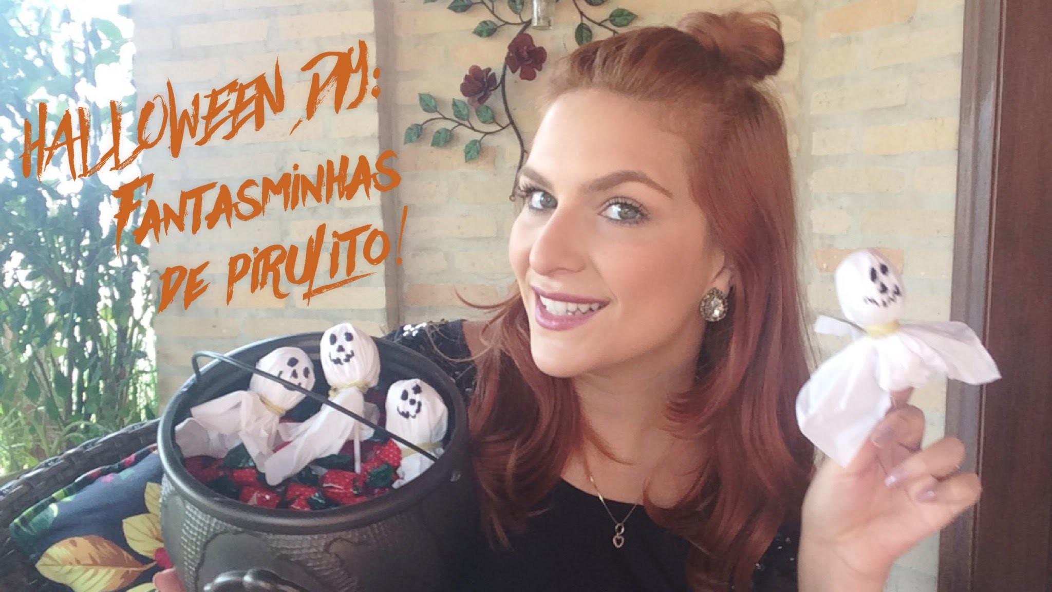 Halloween DIY: Fantasminhas de Pirulito!