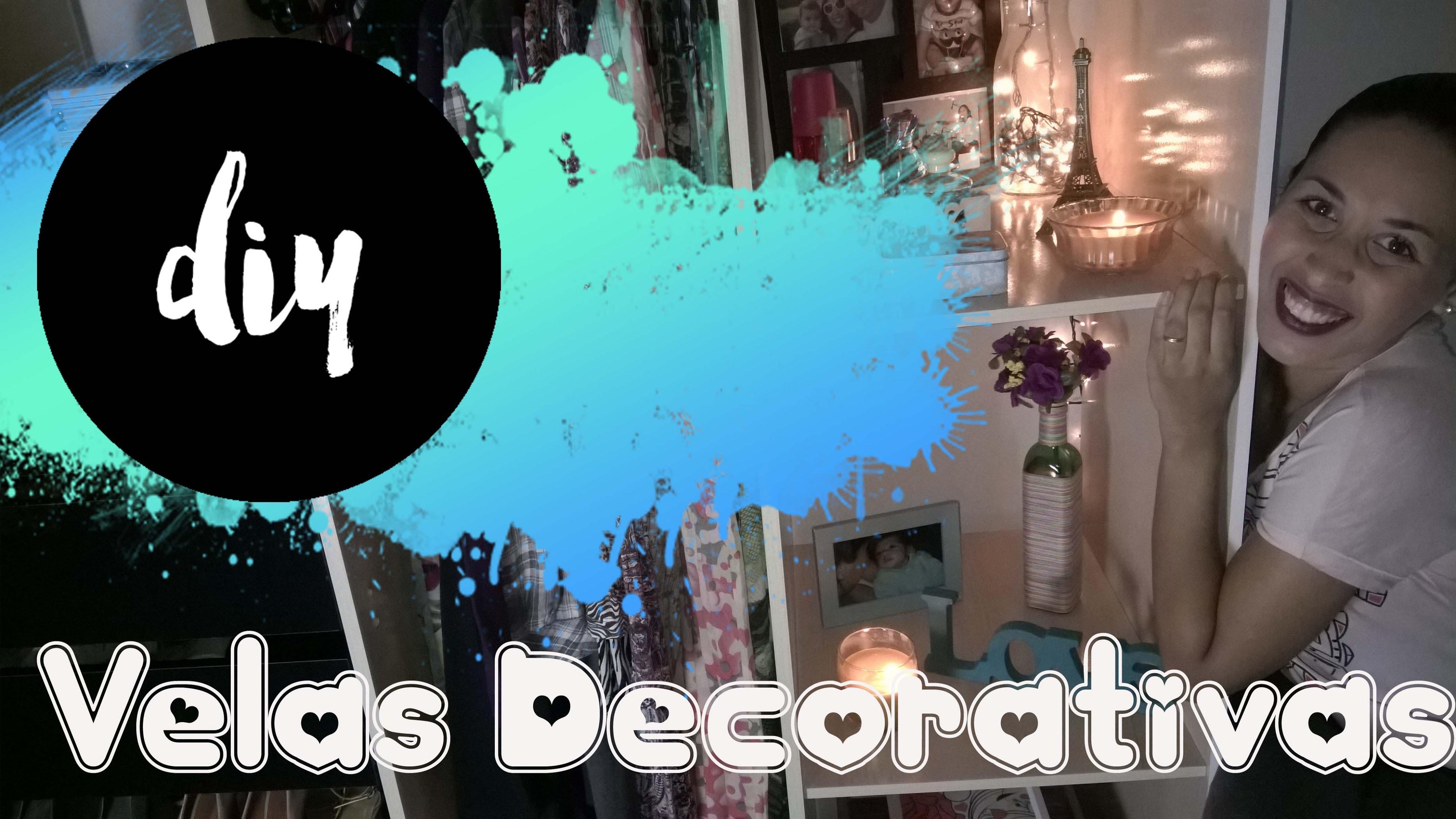 Projeto Decor Cantinho da Pri.  DIY#1 Vela Decorativa - Priscila Evelyn