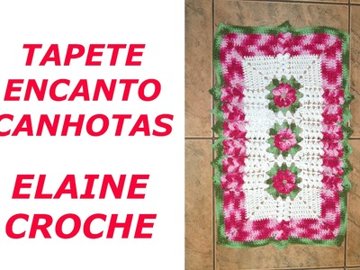 CROCHE PARA CANHOTOS - LEFT HANDED CROCHET - TAPETE ENCANTO EM CROCHE CANHOTAS