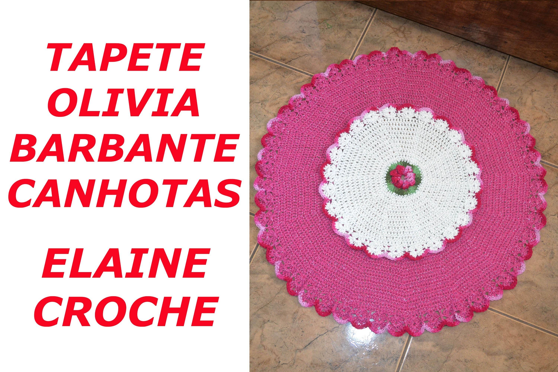 CROCHE PARA CANHOTOS - LEFT HANDED CROCHET - TAPETE OLIVIA EM CROCHÊ BARBANTE CANHOTAS
