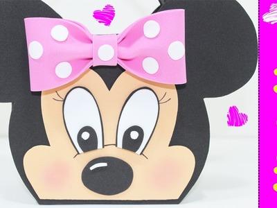 Artesanato EVA - Lembrancinha Minnie Mouse  - Como fazer - Segredos de Aline