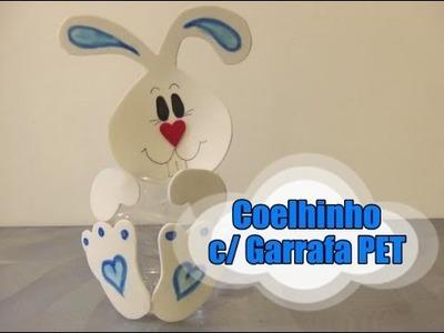 DIY.: Coelhinho c. Garrafa PET - Recycled Art