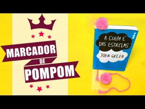 DIY| Pompom Marcador de Página| Super Fofo! por Coisas de Jessika