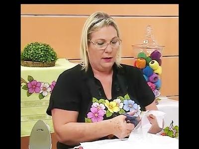 Pano de copa vaquinha em patchapliquê com Márcia Caires | Vitrine do Artesanato na TV