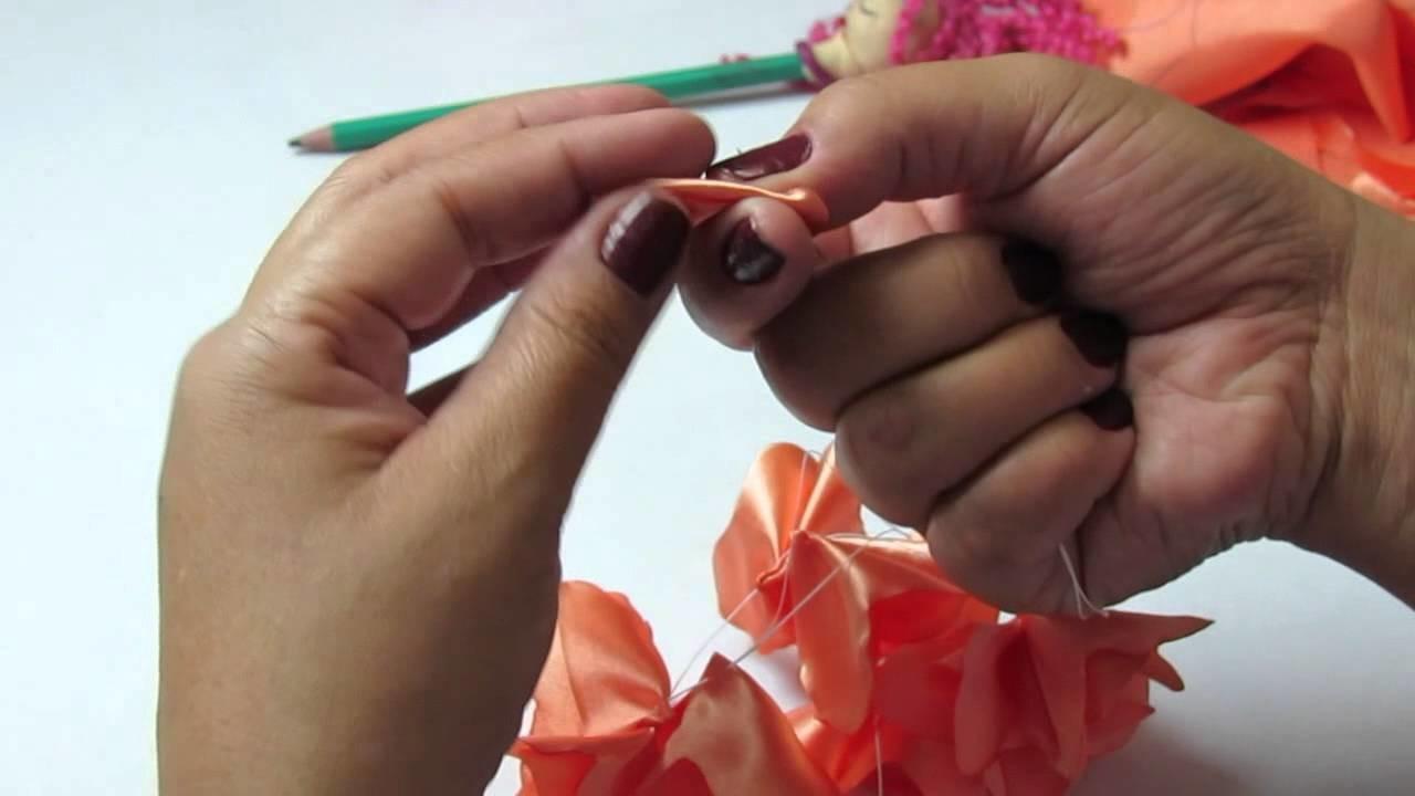 DIY - Tiara com flor de cetim