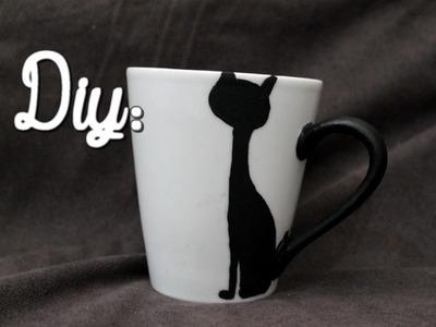 DIY: Caneca gatinho com rabinho