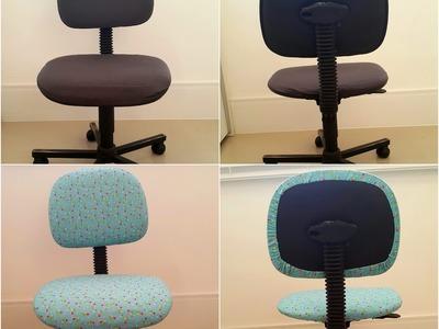 Reformando sua Cadeira do Escritório - Capa para Cadeira - DIY Office Chair Covering